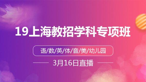 19上海教招学科专项班
