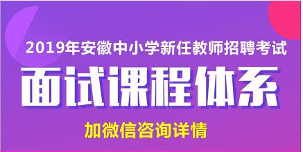 19安徽招教面试课程体系