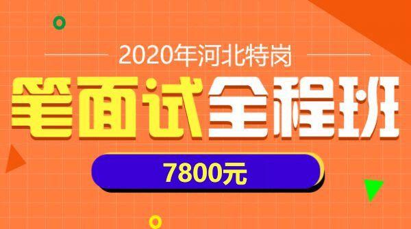 2020年河北特岗笔面试全程班