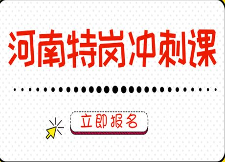 18河南特岗冲刺课程