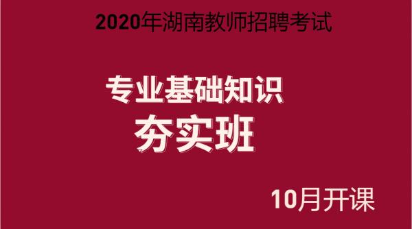 20年湖南招教学科——夯实班