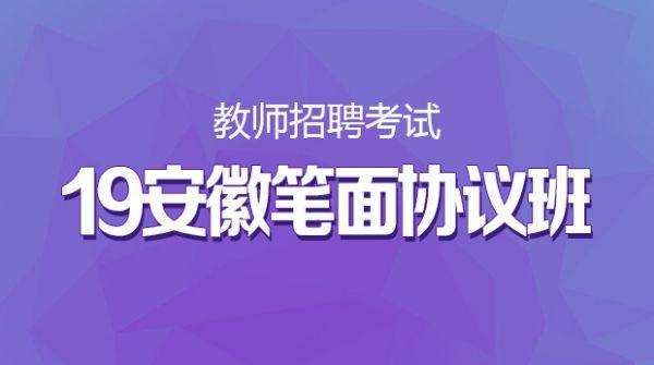 19安徽招教笔面协议班