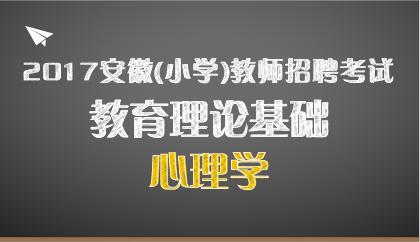 17安徽 小学心理学