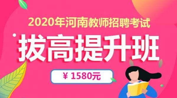20年河南招教笔试拔高2.0提升班
