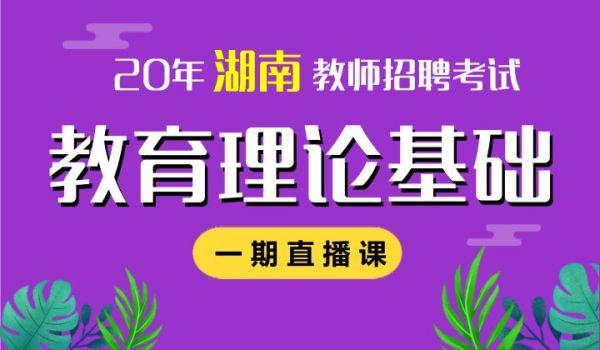 20年湖南招教教育理论基础(一期)