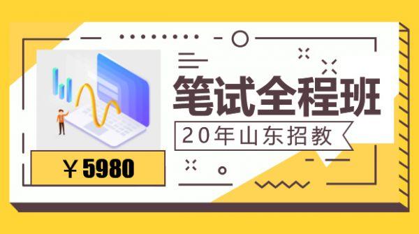 20年山东招教笔试全程班